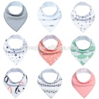 New designPrinted Technics and OEM Service Supply Type Baby Bandana Drool Bibs