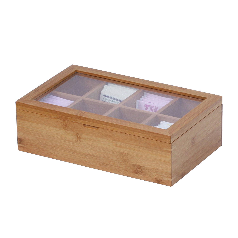 Airtight Bamboo Tea Box 4 Section MSL Details 7