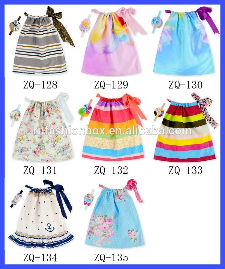 6c7a9fa31 Latest Design Baby Frock Summer Dress Little Girls Flower Printing ...