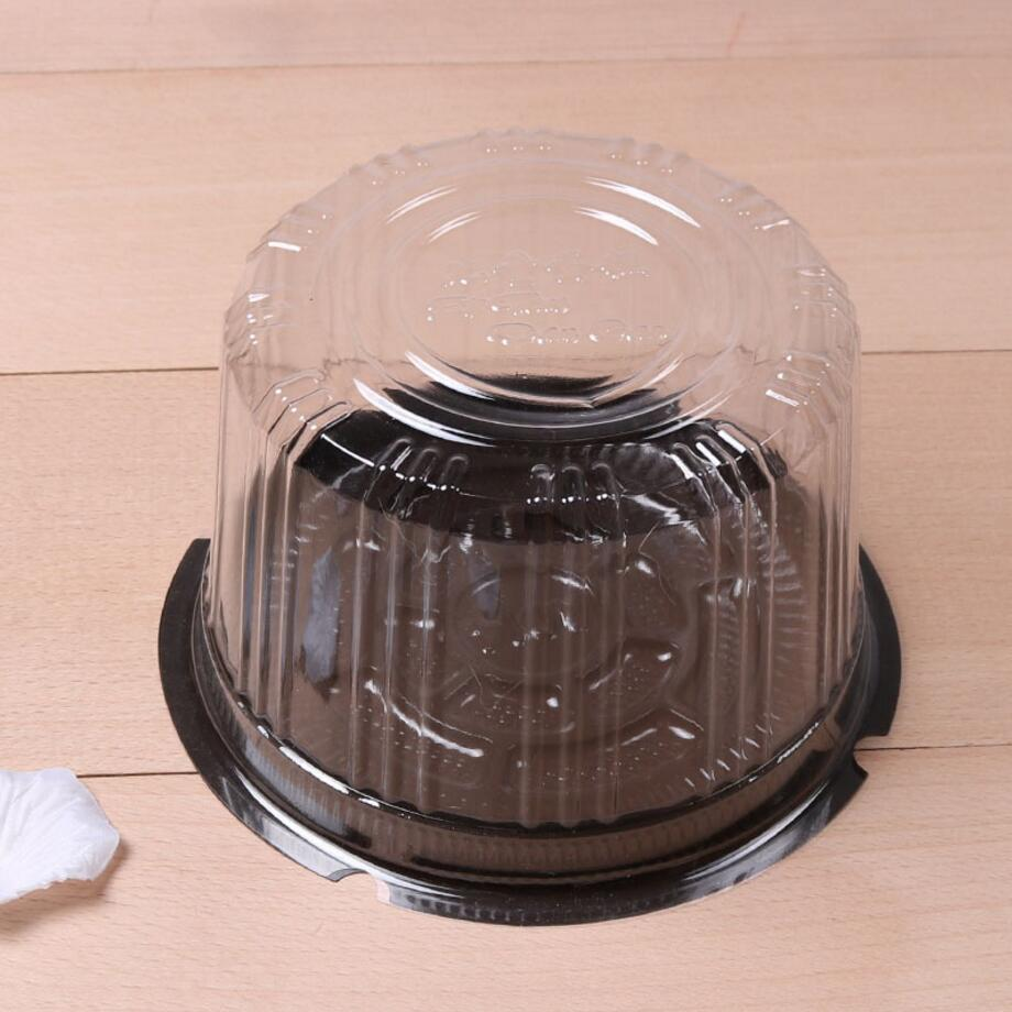 Children Cake Pet Box Round Transparent Blister Bake Box West Point Mousse Box