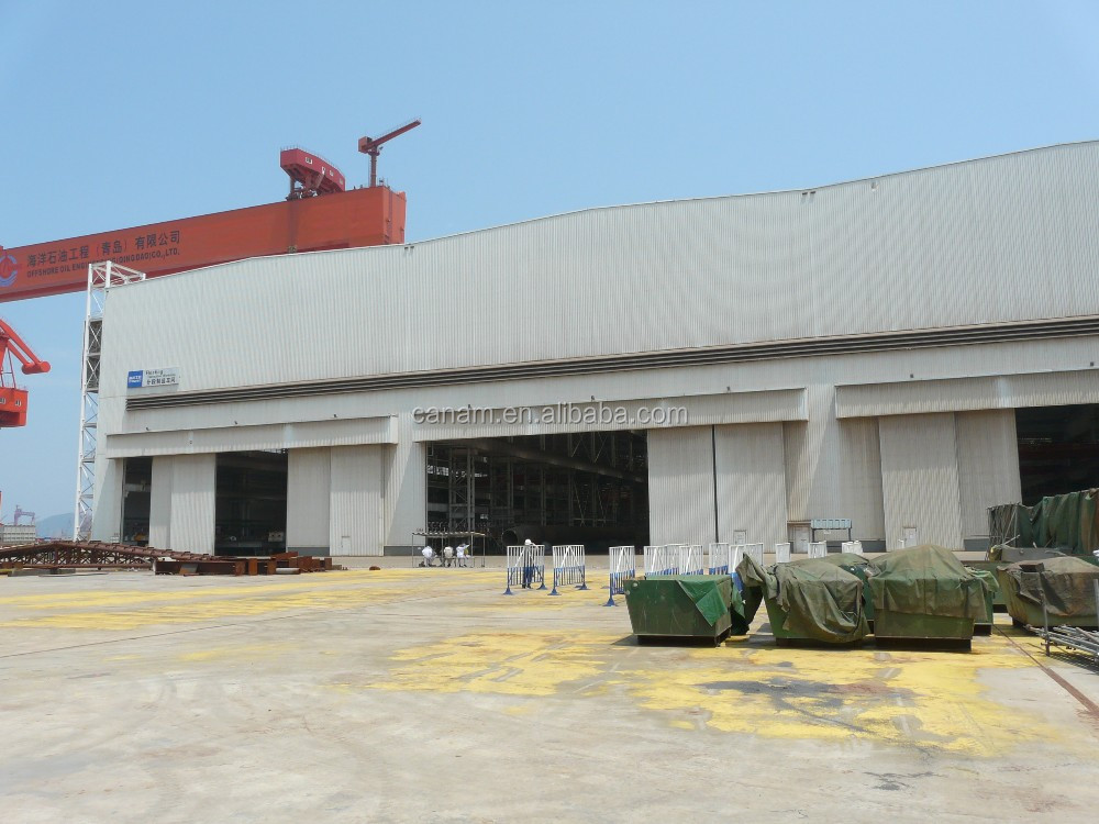 Remote Control Sectional Hangar Sliding Door