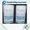 Hot sale food packaging bags with zipper resealable bags biogradable plastic bags for food
