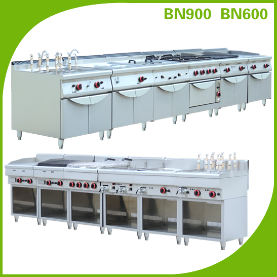 Commercial Kitchen Equipment Product ~ Factory stainless steel fast food restaurant equipment