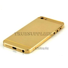 Venta al por mayor 2016 para <span class=keywords><strong>iphone</strong></span> SE carcasa de oro 24 k