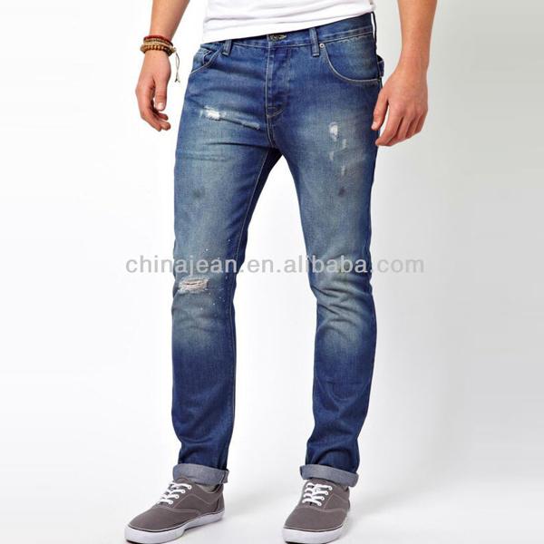 e42dc850b 2015 estilo coreano moda jeans denim para hombres ripped jeans Denim JXQ117