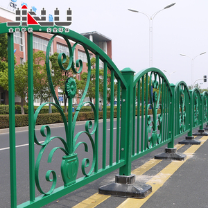 Removable galvanized steel metal powder coated Barrier ornamental safety road guardrails barriers designs
