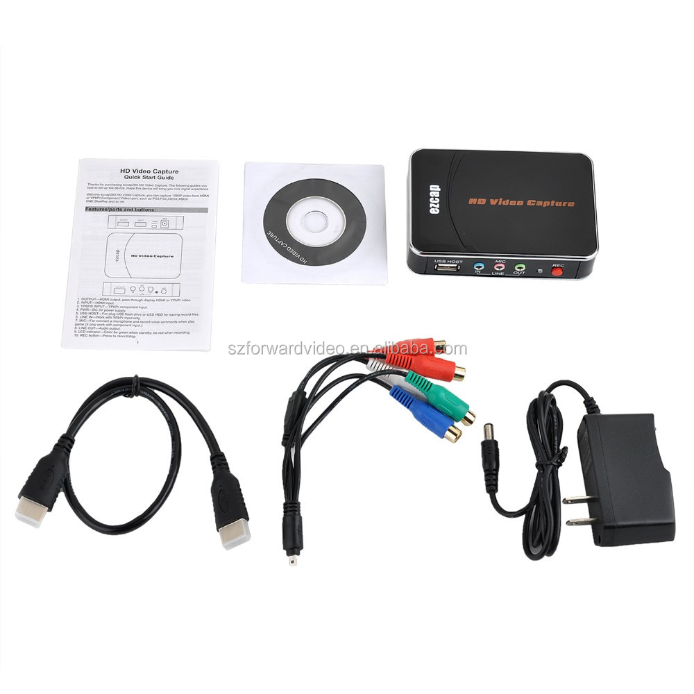 1080@30fps HDMI Game Capture with Component Video ezcap280