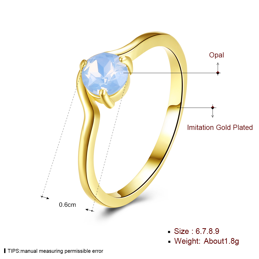 Latest Gold Ring Designs For Girls Plated Jewelry Best Birthday Gift Girlfriend Minimalist Design Opal