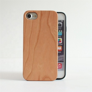 Best selling high quality eco friendly real unfinished wood tough anti shock cell phone back cover case for iphone 8 7 6
