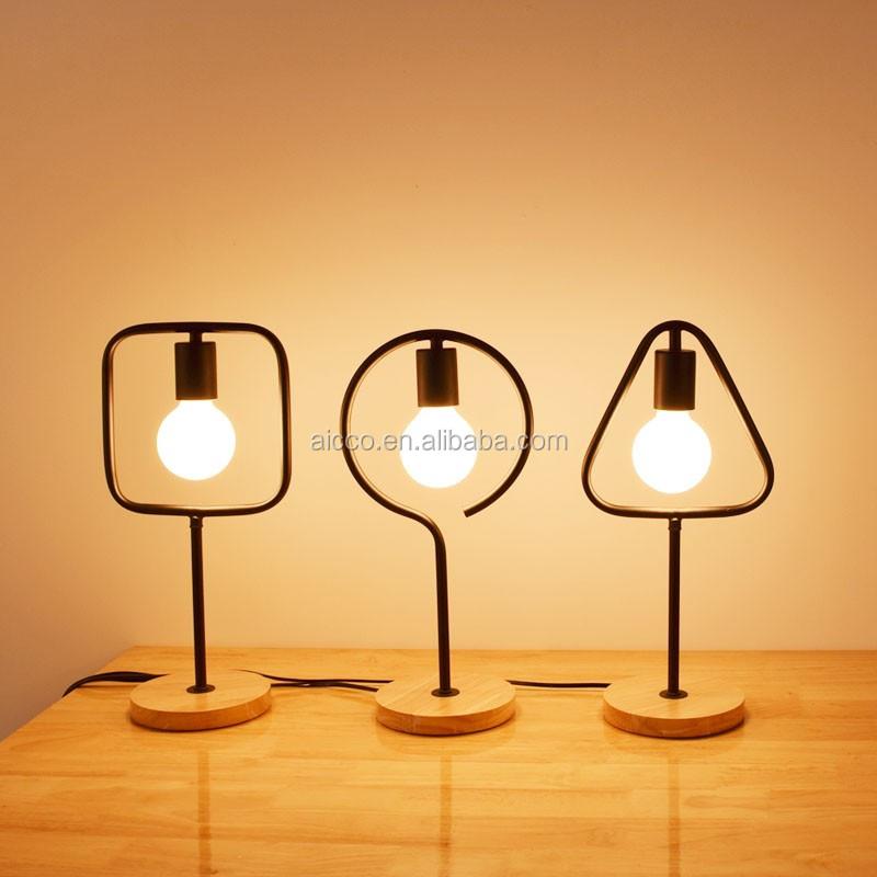 Aicco Indoor Led Cheap Price Modern Wood Hotel Table Lamp Light Buy Lamp Ta