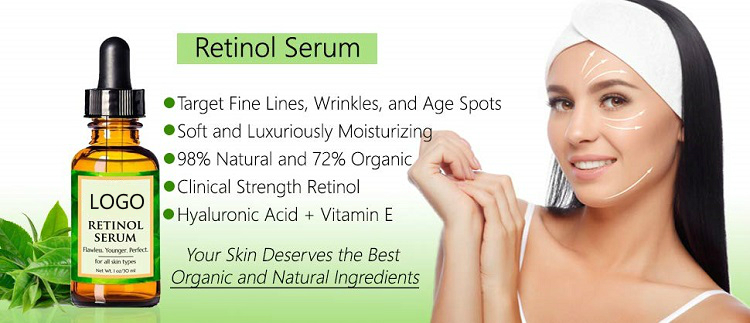 Hot Sell OEM Private Label Vitamin A Vitamin E + Hyaluronic Acid Serum +Vitamin C Retinol Serum for Skin Care