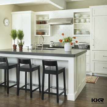 Prefab Standard Solid Surface Kitchen Island Countertop Sizes Countertops