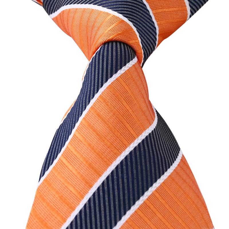 Black Striped Silk bowties Leisure Wedding mens polyester ties for high -business cotton apparel accessories cravate slim