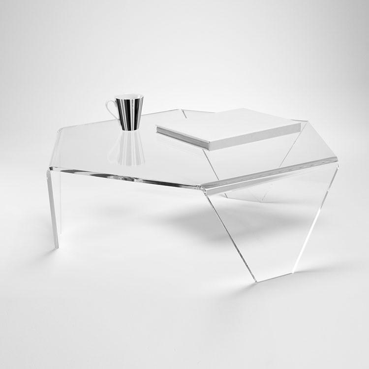 Fait Sur Commande Acrylique Plexiglas Table Ronde En