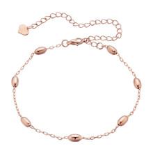 Женский браслет с цепочкой на щиколотке Cxwind, браслет из розового золота с цепочкой для ног с маленькими шариками, летняя бижутерия(Китай)