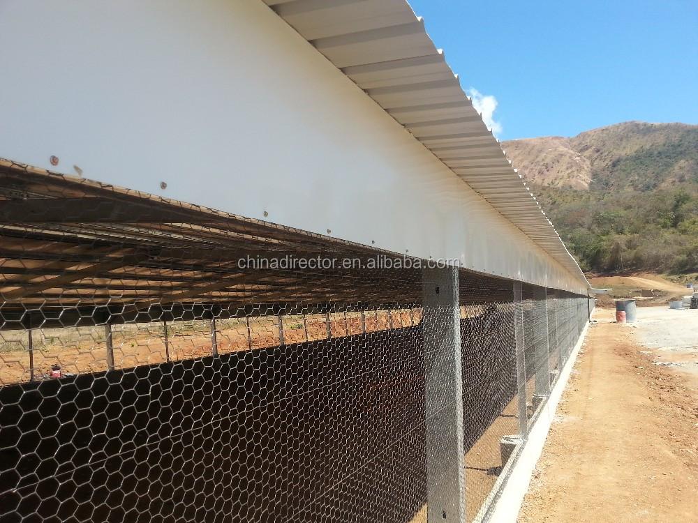 Fram Building Half Open Steel Structure Broiler Poultry