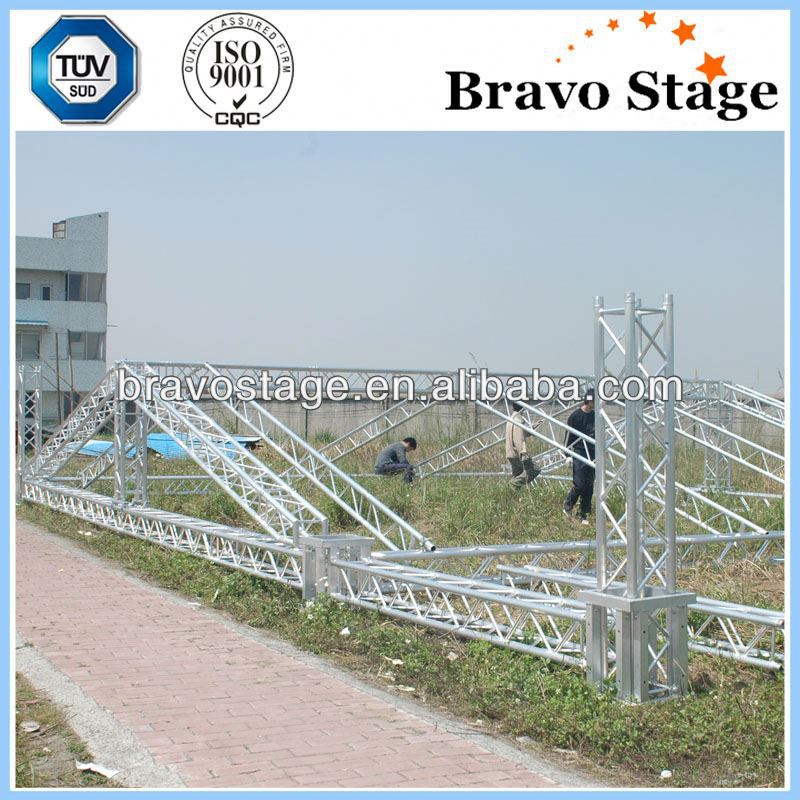 Lighting truss tower system steel base for pillar truss used
