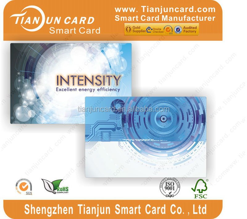 125KHZ Plastic Printable smart Id card for id card reader