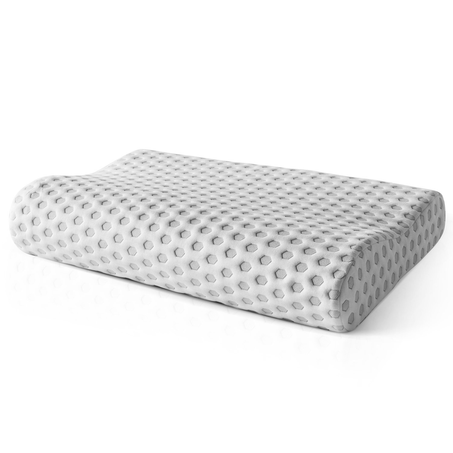 Sleep Restoration Premium Memory Foam Contour Pillow - Premium CertiPUR-US Memory Foam - Hypoallergenic - Removable Bamboo Cover Included