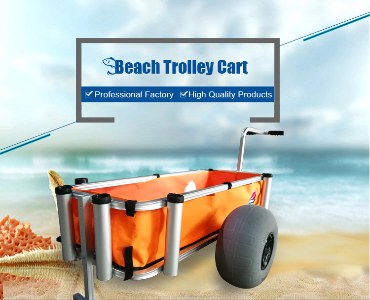 High quality different types of large inner frame aluminum fishing cart