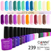 #30917J Wholesale CANNI 7.3ml new color non-toxic odourless organic environmental healthy material uv gel polish for nails