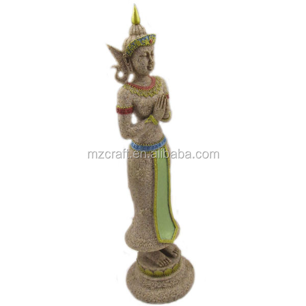 resin Thailand Standing Buddha Statue buddhism <strong>crafts</strong>