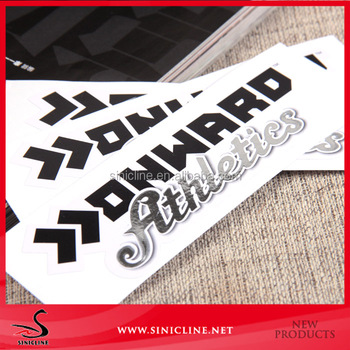Sinicline china factory price white paper custom printed stickers for box
