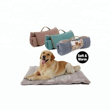 Handle carry PP fiber soft warm travel cheap foldable dog bed