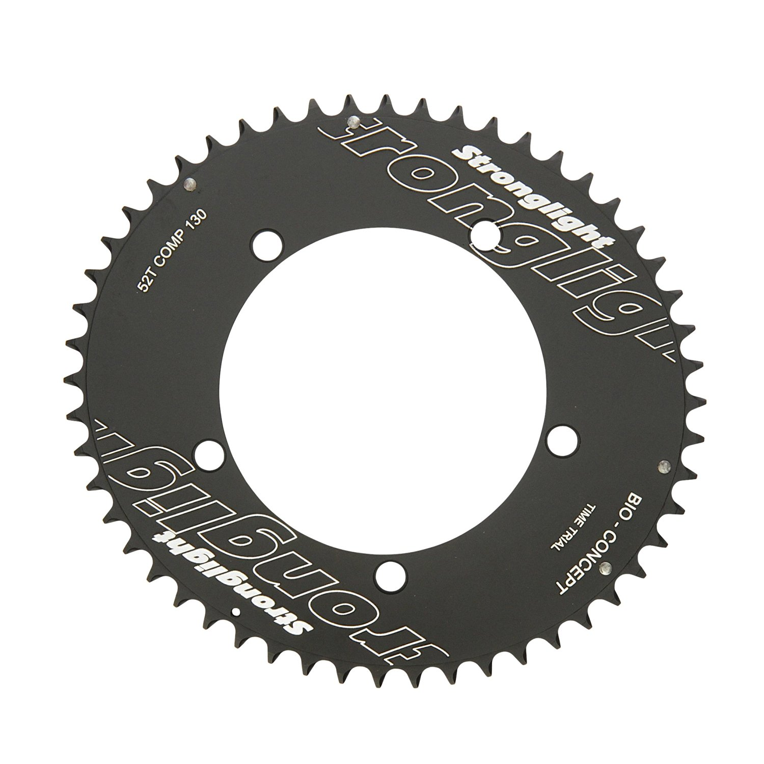 Stronglight Bio Concept CT2 Ceramic Teflon Black Time Trial 130mm Shimano Chainring - 53T (for 42T)