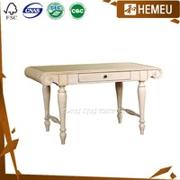 DK3001-Mediterranean style solid wood Secretary Desk with Hutch