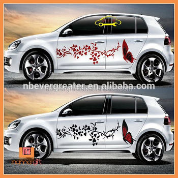 Wholesale car body side sticker design baby on board car stickers