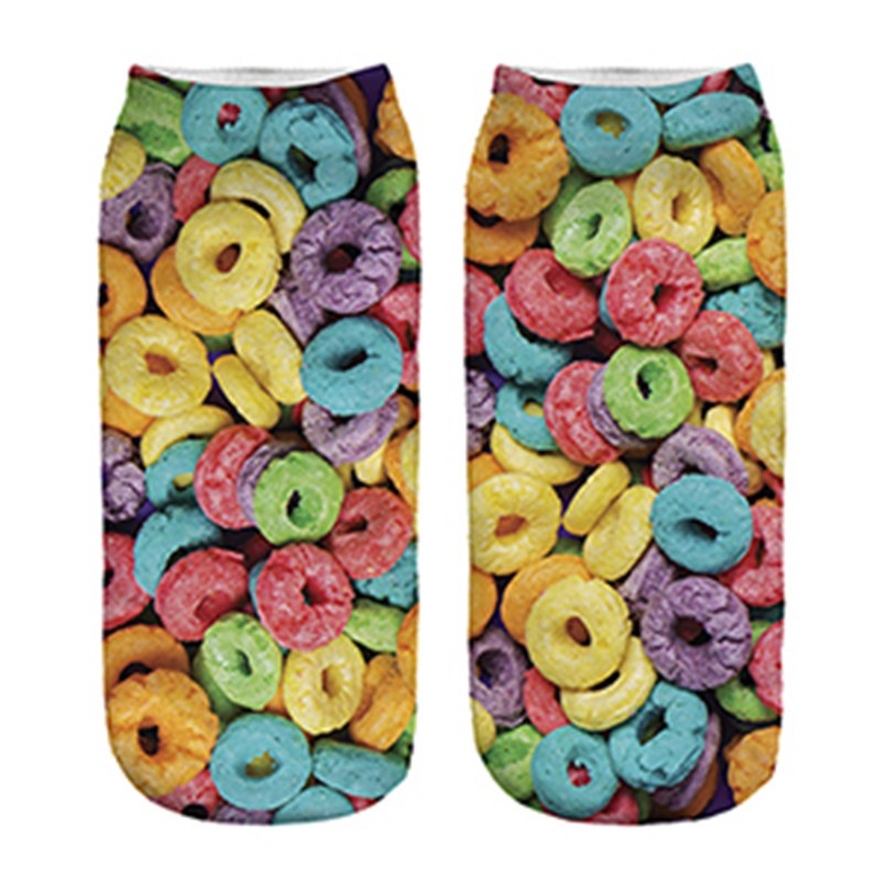 GSP-157 Cupcakes socks digital printed polyester custom socks custom your own designs socks