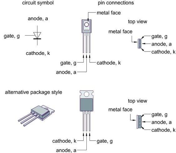 Circuito Com Scr Tic 106 : Interruptor de transistor potencia scr tiristor