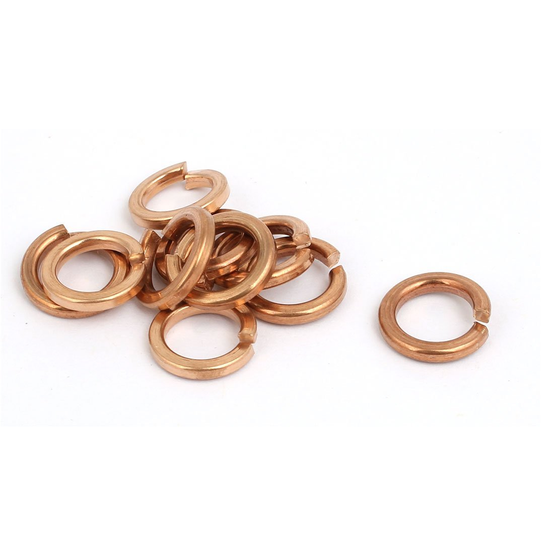 uxcell 8mm Inner Diameter Split Lock Spring Washer Gasket Copper Tone 10pcs