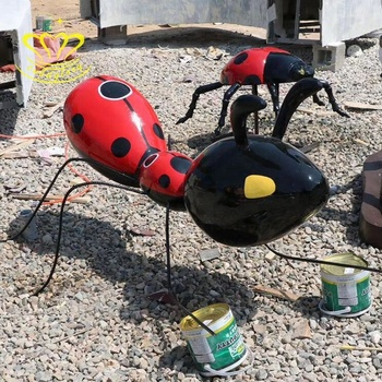 New design fiberglass resin New product sculpture insect ant for garden home decor