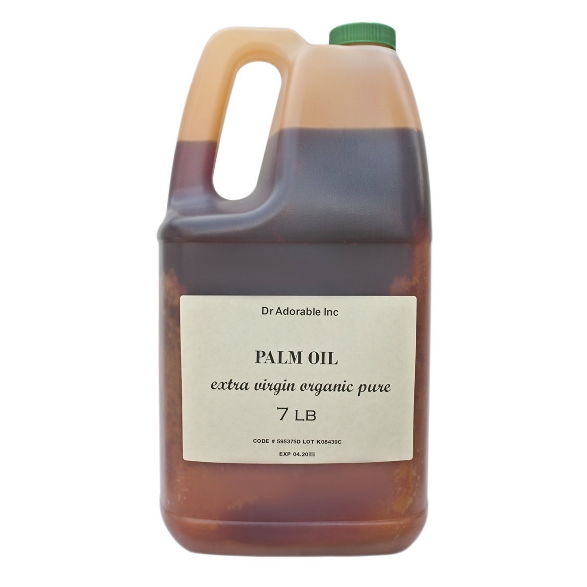 Raw Extra Virgin Red Palm Oil Organic Unrefined 7 Lb / One Gallon