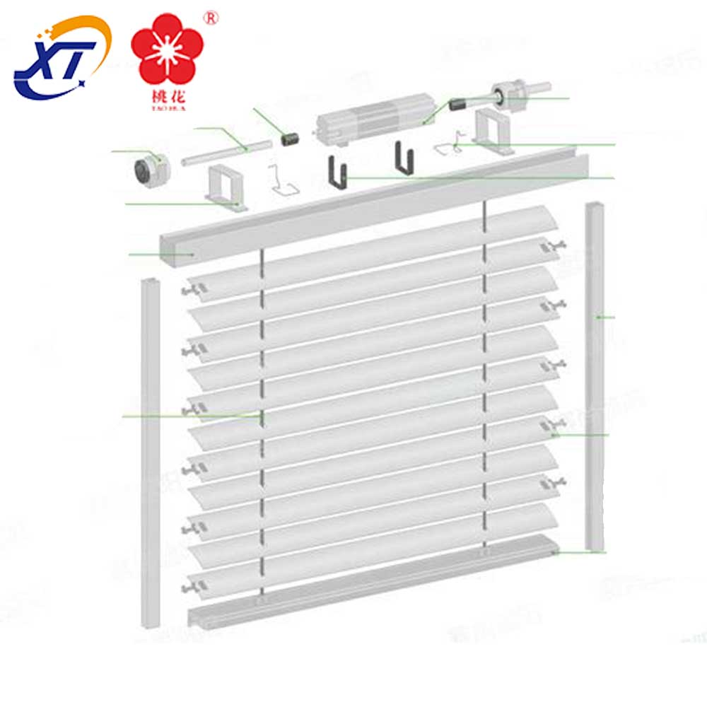 Mechanical Window Security Roller Folding Interior Aluminum Shutters & prefabricated houses aluminium interior security shutters