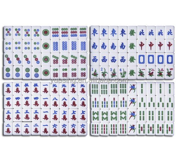 traveling chinese mahjong set for sale glitter mahjong tiles with gift box