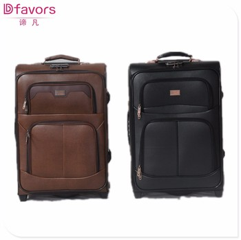 Hot Selling Polyester Luggage Bag Men Leather Travel Bag Nice ...