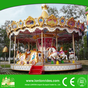 2016 hot selling fairground classic rotary rides carousel/merry go round for sale