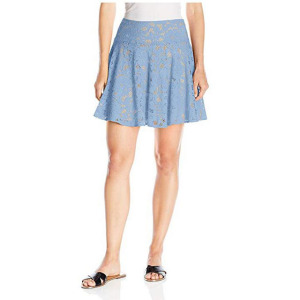 Women's Short Lace Skirt above-the-knee skirt with contrast underlay