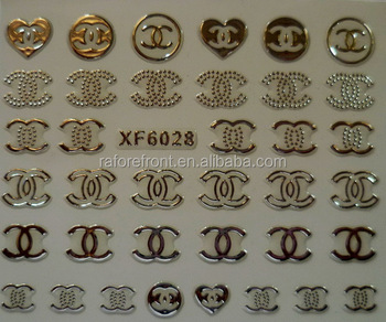 New Gold Silver Fashion style Water Transfer Stickers 3D Design DIY Nail Art Decorations Nail Sticker Nail Decal