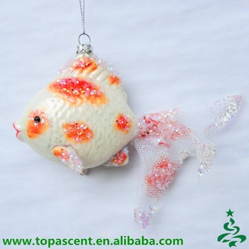 tropical art hand blown glass fish christmas ornaments wholesales from direct factory in china - Fish Christmas Ornaments