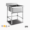 Single Sink Commercial Restaurant Equipment Stainless Steel Work Table