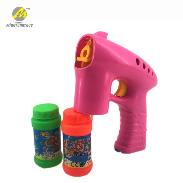 Electric plastic led flash and music space bubble guns for kids