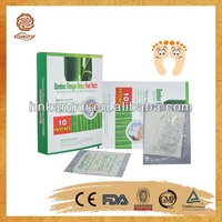 health care product for home use bamboo slimming detox foot patch