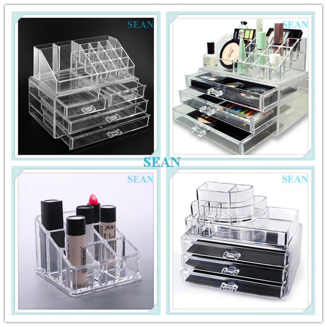 High quality Jewelry makeup acrylic box box for cosmetic