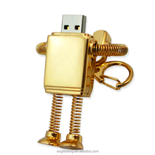 metal Robot Shape usb flash drive 16G personalized fashion USB pen drive