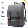 BSCI bag factory Daypack canvas Travel Backpack College canvas backpack Book bag