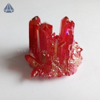 Wholesale Rough Ruby Aura Quartz Crystal Cluster Raw Mineral Crystal